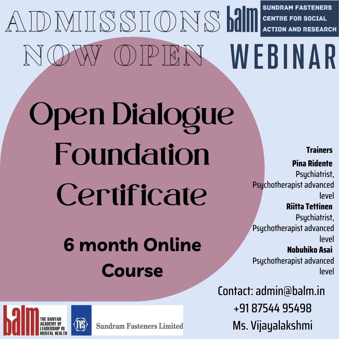Open Dialogue Foundation course 2021
