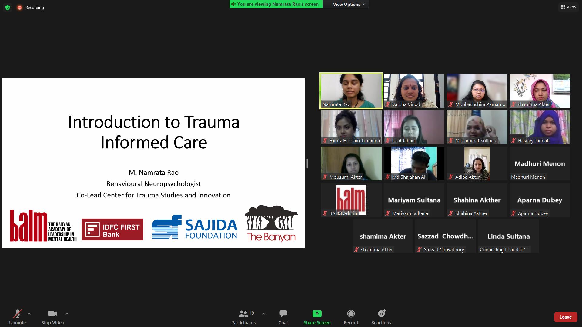 Community Mental Health with SAJIDAFoundation, Bangladesh
